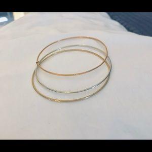 14K Gold Tri Color Bangles- for Stef